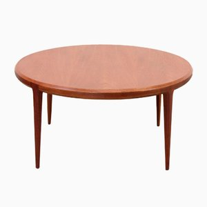 Round Teak Coffee Table by Johannes Andersen for Silkeborg Møbelfabrik, 1950s