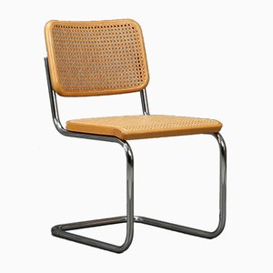 Bauhaus Beech S32 Cantilever Chair by Marcel Breuer for Thonet, 1980s