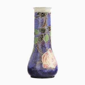 Steingut Vase von Bessie Newbery für Doulton Lambeth / Royal Doulton, 1910er