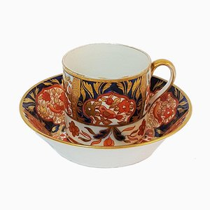 Imari Coffee Cup and Saucer Set from Spode, 1820s