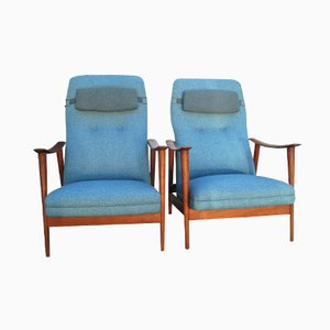 Vintage Scandinavian Easy Chairs by Arnt Lande for Stokke, Set of 2