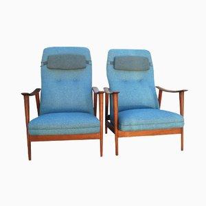 Vintage Scandinavian Easy Chairs by Arnt Lande for Stokke, Set of 2