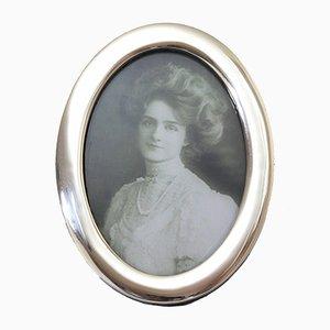 Oval Silver Photograph Frame from Robert Chandler, Birmingham, 1922
