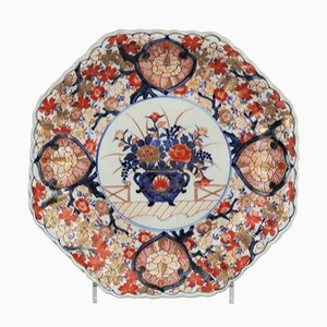 Japanese Meiji Period Reeded Octagonal Imari Charger from Imari / Arita, 1900s