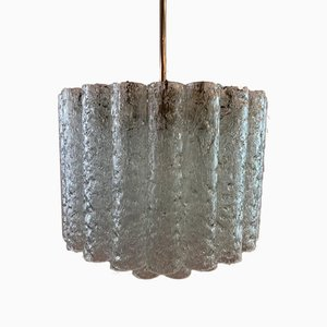 2-Tier Tubular Crystal Glass Chandelier from Doria Leuchten, 1960s