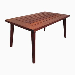 Mid-Century Danish Teak Luggage Rack Slatted Coffee Table by Jonelle