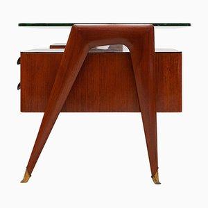 Italienischer Mid-Century Präsidenten Schreibtisch von Vittorio Dassi für Dassi, 1950er