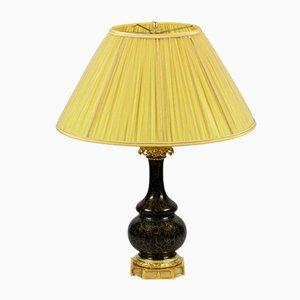 Lampe im Louis XVI Stil aus Porzellan und vergoldeter Bronze, 1880er