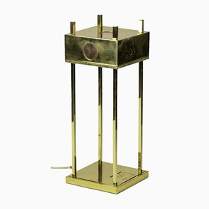 Lamp in Gilt Brass and Copper with Olympic Games Logo, 1936