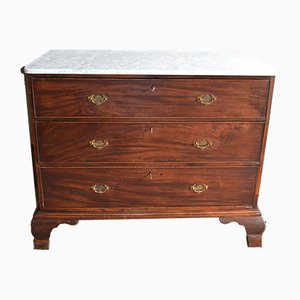 Antique Mahogany Dresser with Marble Top