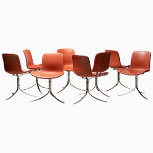PK9 Dining Chairs by Poul Kjærholm for Fritz Hansen, 2012, Set of 8