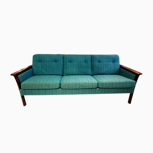 Mid-Century Rosewood 3-Seater Sofa by Hans Olsen