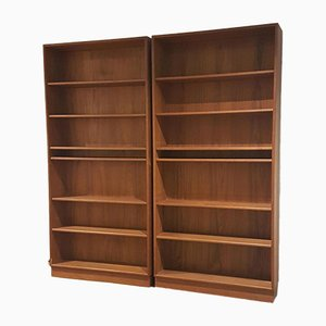 Mid-Century Danish Teak Bookcases from MSE Mobler, Set of 2