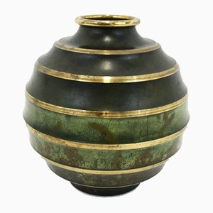 Swedish Art Deco Bronze Vase from SVM Handarbete, 1930s