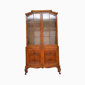 Antique Burl Walnut Bookcase