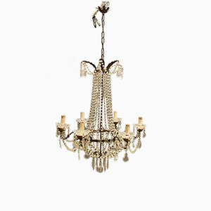 Vintage Murano Glass Macaroni Beaded Chandelier, 1950s