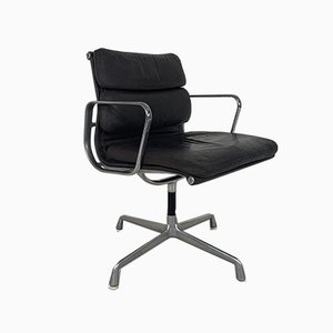 Vintage Dark Brown Leather Soft Pad Group Chair by Charles & Ray Eames for Herman Miller, 1970s