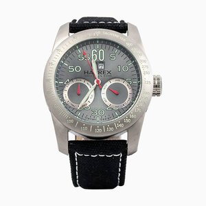 Rote automatische italienische Pfeil Armbanduhr aus Edelstahl von Haurex