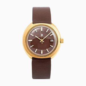 Vintage Gold-Plated Mechanical Wrist Watch from Lip, 1970s