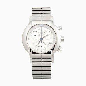 Reloj de cuarzo resistente al agua con cronómetro de acero inoxidable de St Dupont