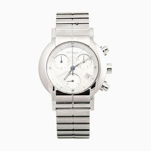 Stainless Steel Chronograph Water Resistant Quartz Wrist Watch from St Dupont