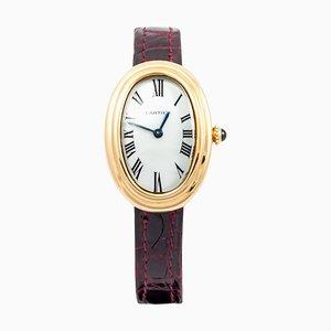 Gelbgold Petite Modell Badewanne Armbanduhr von Cartier