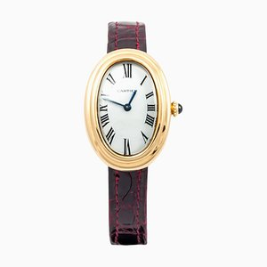 Yellow Gold Petite Model Bathtub Wrist Watch from Cartier