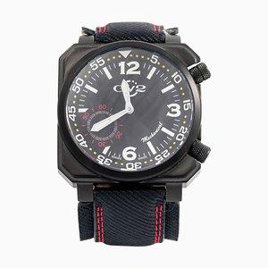 Reloj de pulsera mecánico WR submarino cuadrado de acero inoxidable de Gevril