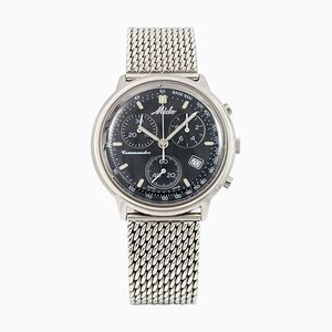Stainless Steel Commander Ocean Star Aquadura Chrono Quartz Wrist Watch from Mido
