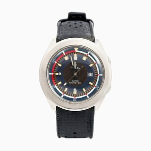 Elektronische Edelstahl Super Nautic-Ski Armbanduhr von Lip, 1972