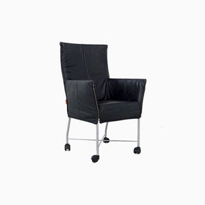 Black Leather Chaplin Chairs by Gerard van den Berg for Montis, 1980s, Set of 2