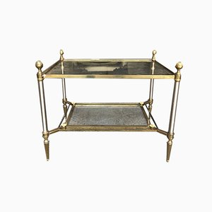 Glass and Brass Coffee Tables from Maison Jansen, 1950s, Set of 2