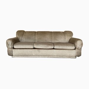 Mid-Century Italian Sofa with Chrome Details, 1970s