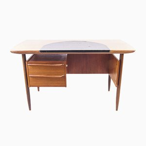 Teak Cowhorn Desk by Tijsseling for Propos Hulmefa, 1960s