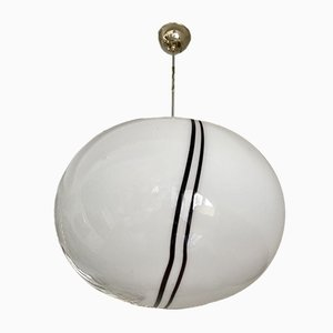 Large Glass Globe Ceiling Lamp from Vetri, 1980s