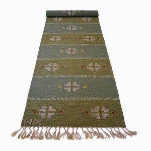 Mid-Century Swedish Flat Weaved Röllakan Carpet by Nils Nilsson, 1950s