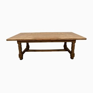 19th Century French Bleached Oak Long Farmhouse Dining Table