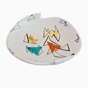 Französischer Keramik Teller von Marius Bessone für Vallauris, 1950er