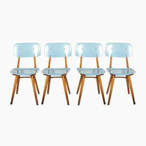 Mid-Century Czechoslovak Dining Chairs from Ton, Set of 4