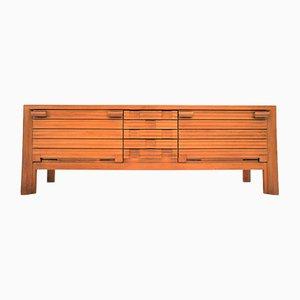 Golden Oak Sideboard by Guillerme et Chambron for Votre Maison, 1970s