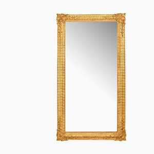 Antique Gilded and Gold Leaf Frame Rectangle Wall Mirror