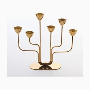 Swedish Brass Candleholder by Gunnar Ander for Ystad-Metall, 1960s