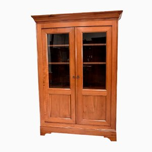 19th Century Louis Philippe Style Blond Cherrywood Bookcase