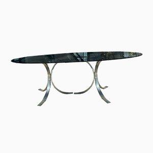Smoked Glass Top Dining Table by Osvaldo Borsani, 1970s
