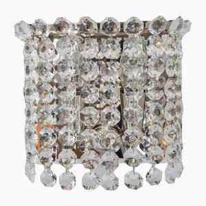 Wandlampen aus Kristallglas von Bakalowits & Söhne, Wien, 1960er, 2er Set