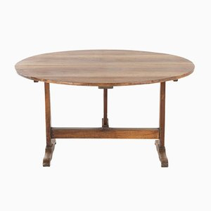 19th Century French Oval Vendanges Table