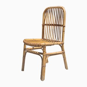 Vintage Italian Rattan Garden Chairs, 1960s, Set of 4