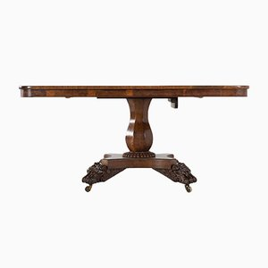 19th Century Burl Oak Dining Table