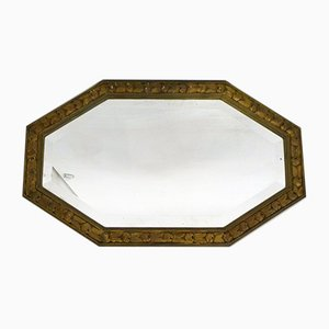 Large Art Deco Octagonal Wall Mirror, 1940s