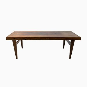 Rosewood Coffee Table with Storage, 1960s